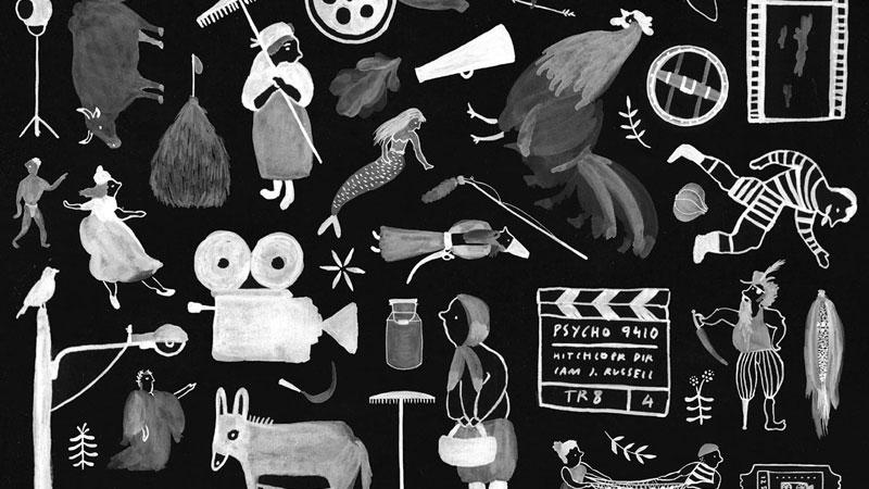 Detalle del cartel del VII Festvial de Cine Mediu Güeyu