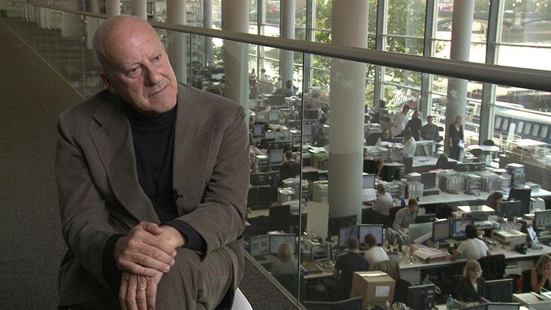 Fotograma del documental ¿Cuánto pesa su edificio, señor Foster?, sobre la obra de Norman Foster