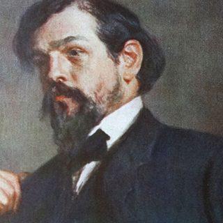 Retrato al oleo de Claude Debussy