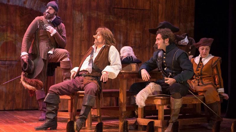 Escena de la obra, Cyrano de Bergerac