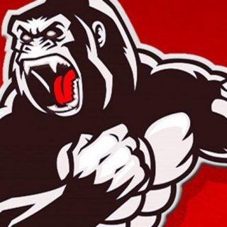 Detalle del cartel del Underpark Fest 2019, en el que se ve una ilustración de King Kong con rellenos blancos y negros sobre fondo rojo.