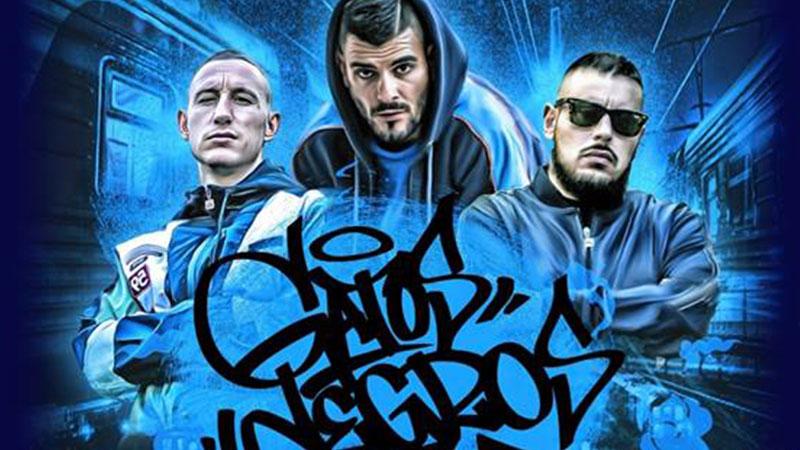 Detalle del cartel del concierto de Victor Rutty, Rober del Pyro y Dj Kaef