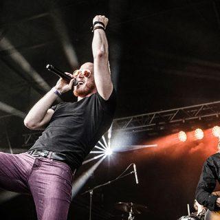 Foto de la banda británica Diamond Head en directo