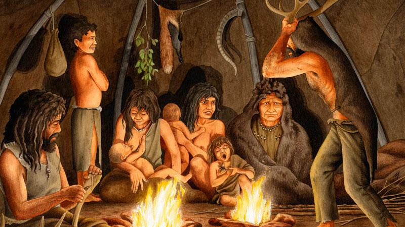 Imagen respresentativa de la vida prehistórica