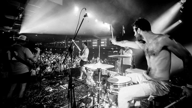Foto de la banda belga It It Anita en directo