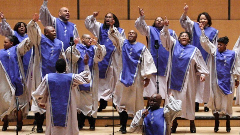 Foto del coro de góspel Chicago Mass Choir en directo