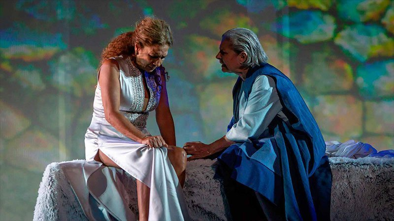 Imagen de una escena de la obra teatral Fedra