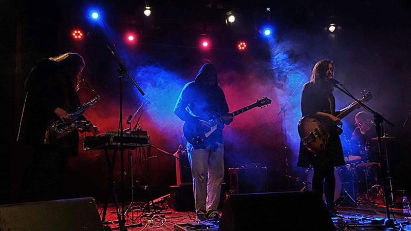 Foto de la banda polaca Lonker See en directo