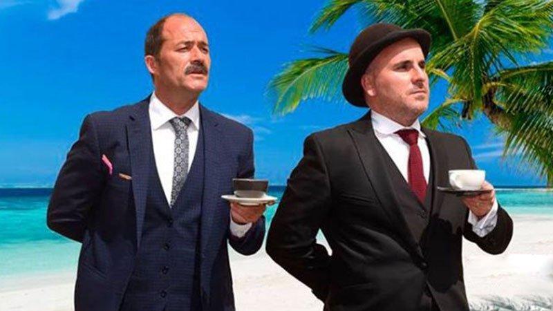 Foto promocional de la obra teatral Niue, Under the coconuts