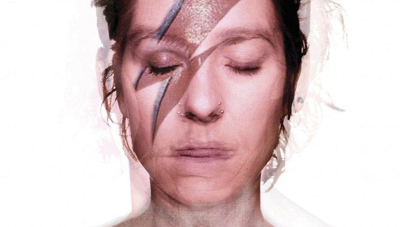 Detalle del cartel promocional de la performance Gusanos de Marte