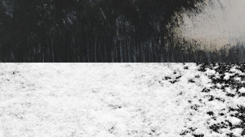 Detalle de dos imágenes que figuran en la exposición La plenitud del vacío