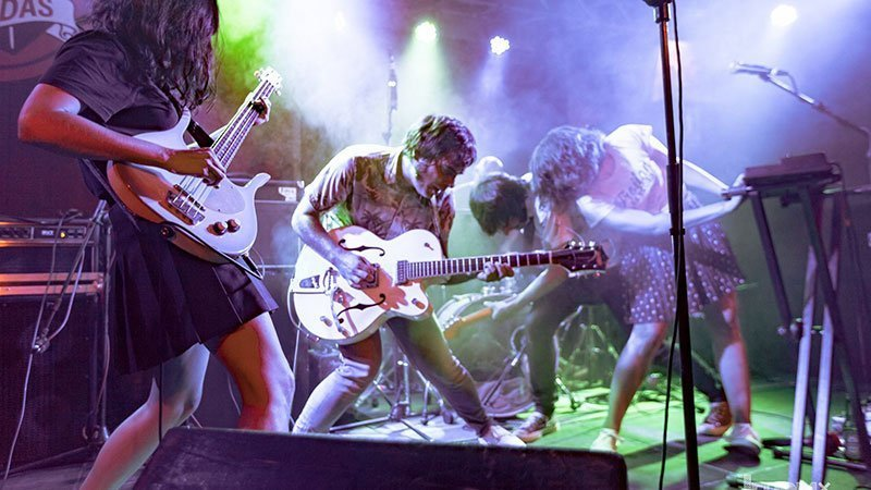 Foto de la banda madrileña Terrier en directo