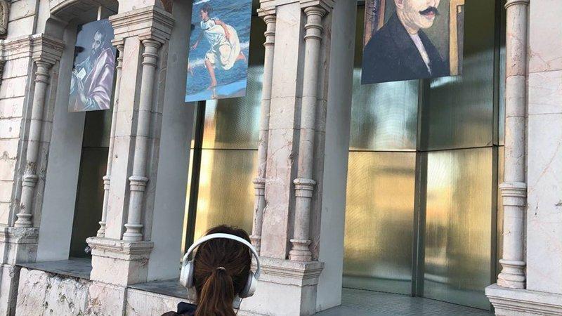 Foto de la fachada del museo de bellas artes, donde se realiza la exposición