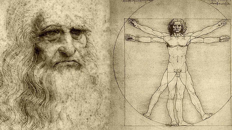 Imagen conceptual de Leonardo Da Vinci