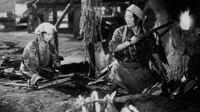 Fotograma de la película Ugetsu monogatari