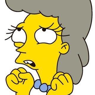 Detalle del cartel del evento, ilustración estilo The Simpsons de una chica con gesto de sorprendida mirando arriba platónicamente