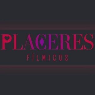 Imagen del evento Placeres Fílmicos en la que se puede leer este titular con un corazón dentro de la letra P y un rombo dentro de la letra C, sobre un trozo de película de cine ilustrado